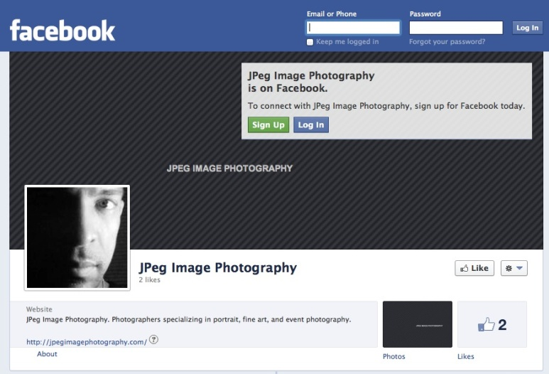 JPeg Image Photography Facebook page.