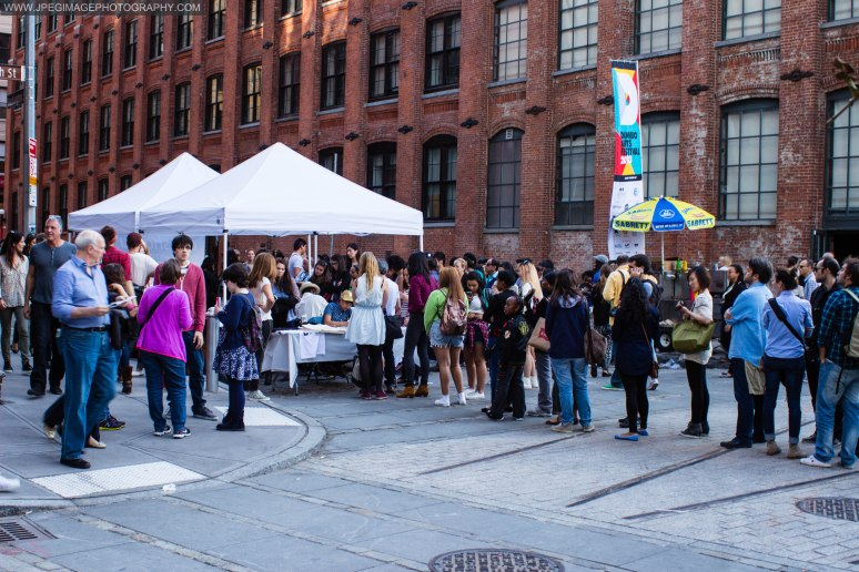 Crowd of people during the DUMBO Arts Festival located in DUMBO Brooklyn, Sunday September 29, 2013.