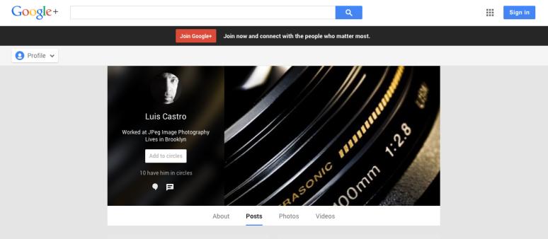 JPeg Image Photography on Google+