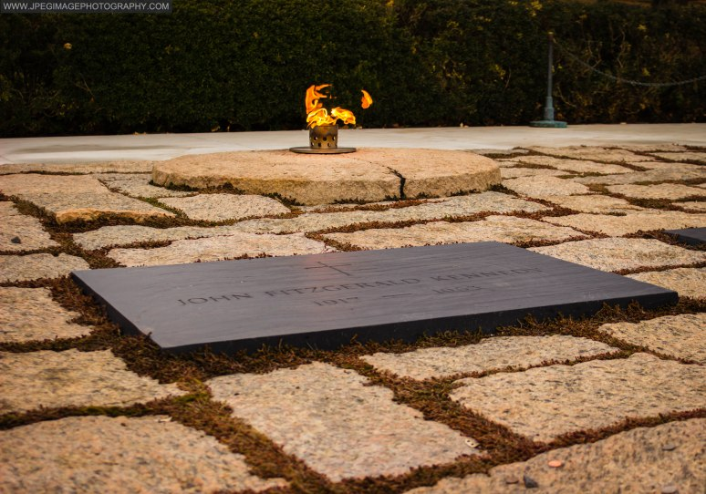 Gravesite of John F. Kennedy President of the United States, at Arlington National Cemetery.