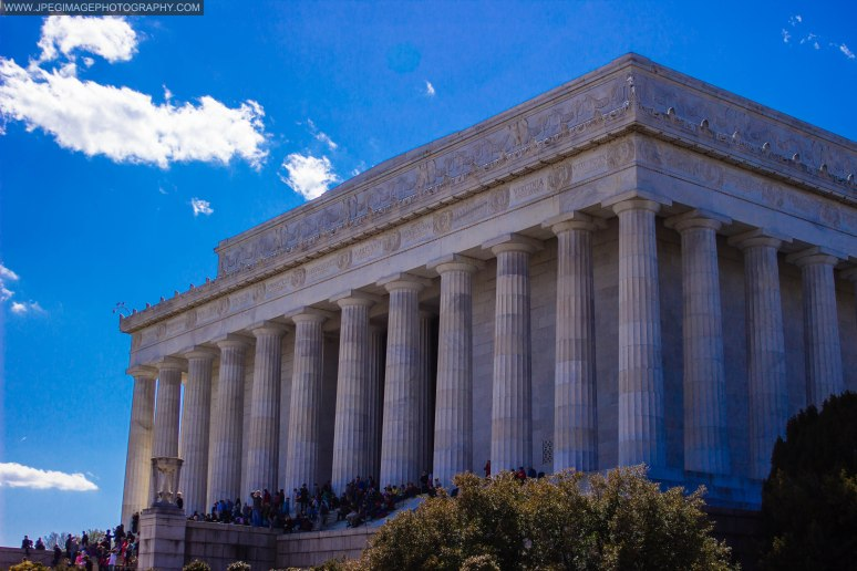 Lincoln Memorial building in Washington DC.