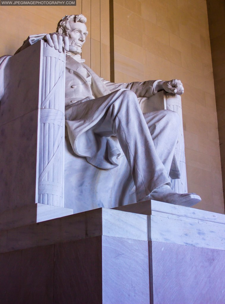 Statue of Abraham Lincoln located at the Lincoln Memorial in Washington DC.